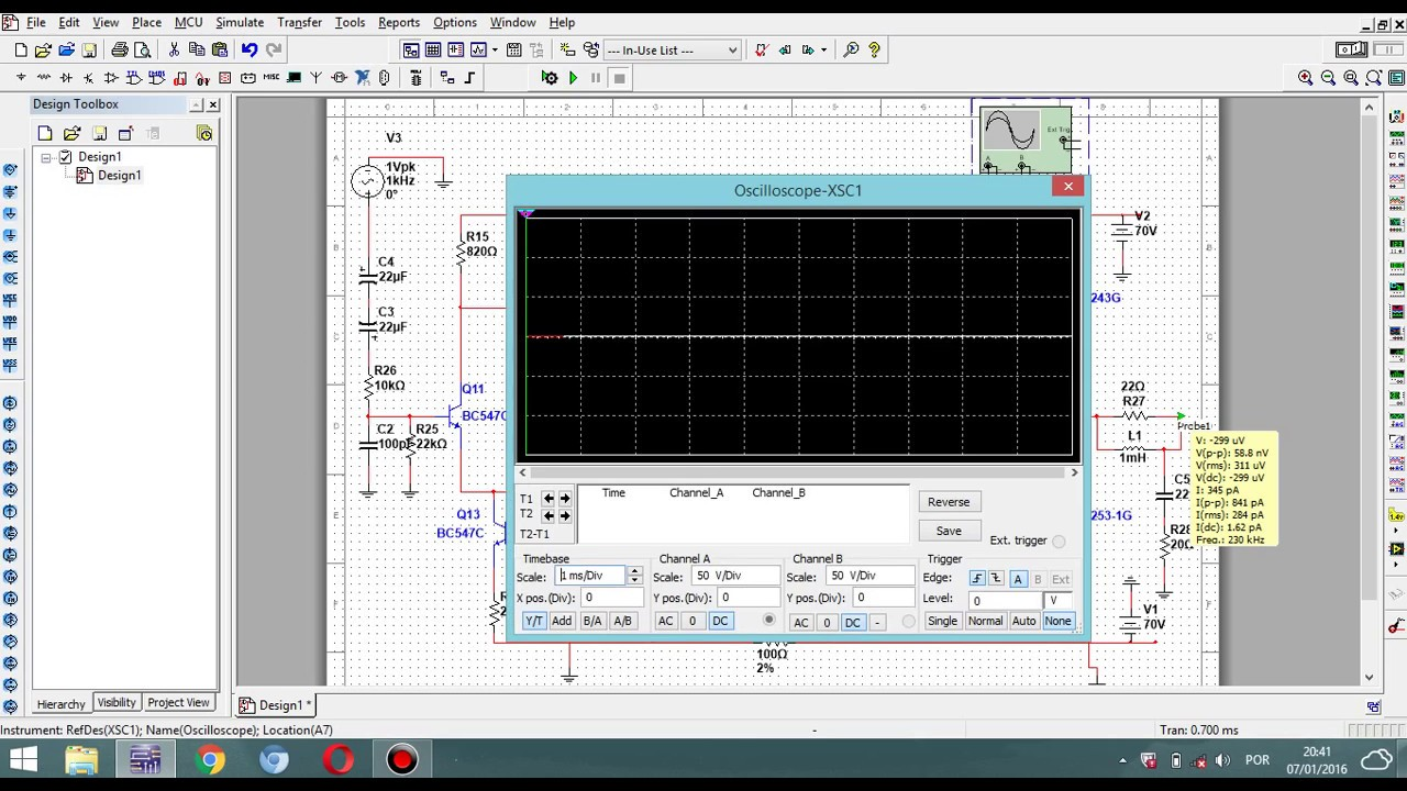 Circuito Eletronico : Simulando circuito eletronico no multism youtube