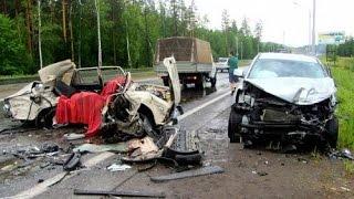 Жесткие аварии за весь Июль 2015  Car crash compilation 2015