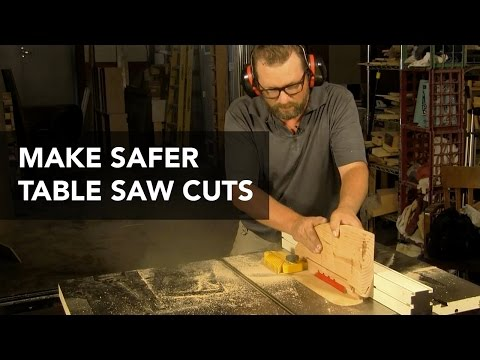 Making Safe Cuts Using a Custom Push Block and Zero-Clearance Throat Plate