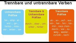 Trennbare Verben! Отделяемые приставки в немецком языке, урок 20.
