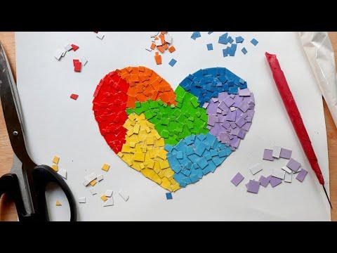 Cara Membuat Kolase Kertas Love Youtube