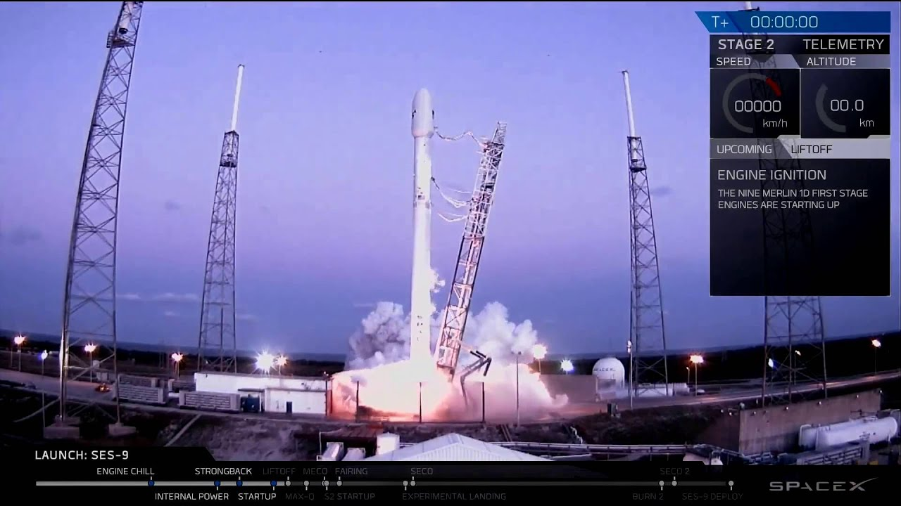 final launch countdown spacex s falcon 9 mission ses 9 5 iii 2016