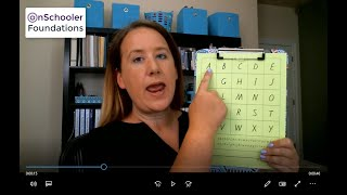 C1-Sing with capital letters A-G (Point to uppercase A through G with the alphabet song)