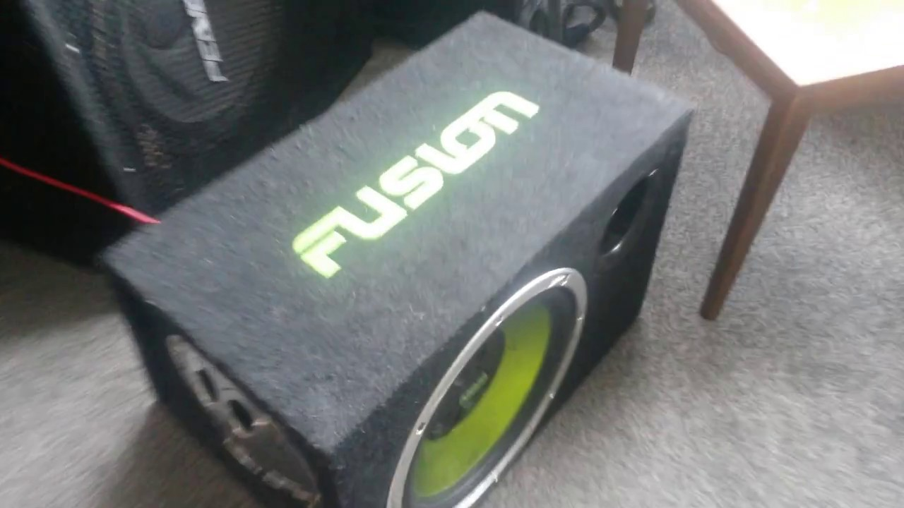 testing fusion car audio subwoofer en ab1120 with my bass guitar amp youtube. Black Bedroom Furniture Sets. Home Design Ideas