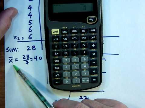 COMPUTING SAMPLE STANDARD DEVIATION USING TI 30XA