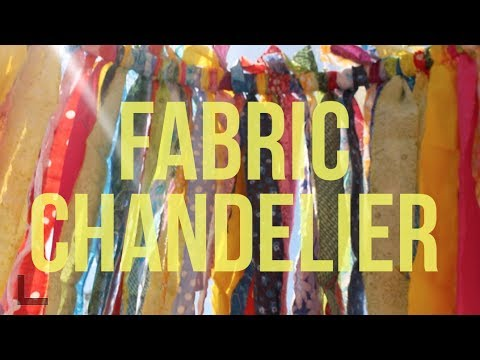 How to make a fabric chandelier youtube how to make a fabric chandelier aloadofball Gallery