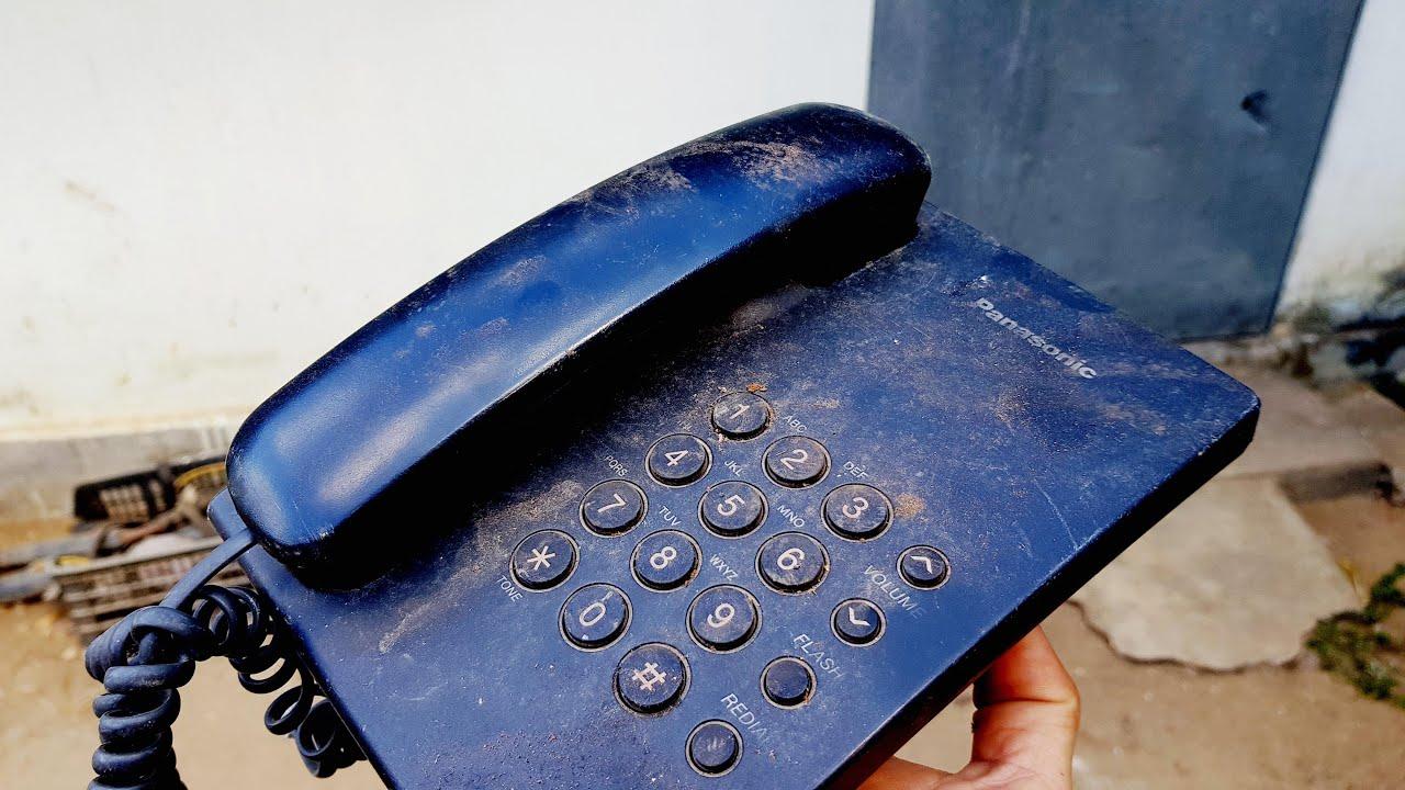 Phục hồi điện thoại bàn cố định Panasonic | Điện thoại bàn bị hỏng bỏ rơi