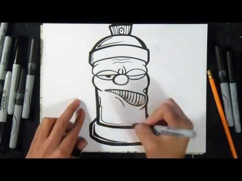 como desenhar aerossol  | Grafite