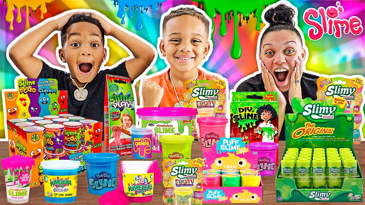 Mixing All Our Store Bought Play Dough Slimes With DJ's Clubhouse!!