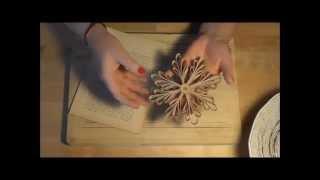 KmZ ~ Schneeflocke aus Buchseiten basteln Snowflake Tutorial