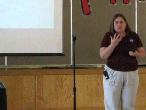NASA's Elaine Stevens visits Hobby Middle School
