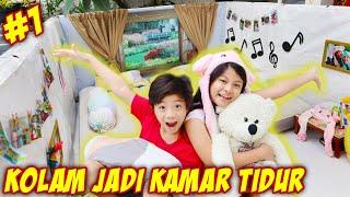 UBAH KOLAM RENANG JADI KAMAR TIDUR - Part 1 | Vlog & Drama Parodi Lucu | CnX Adventurers