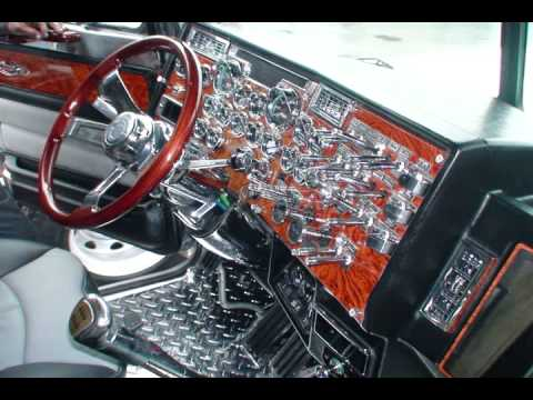 Stock 587 texas chrome shop youtube - Peterbilt 379 interior accessories ...