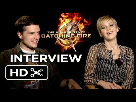 The Hunger Games: Catching Fire Interview - Jennifer Lawrence & Josh Hutcherson (2013) HD