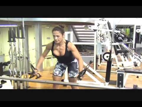 fitness woman chest workout cable crossovers  youtube