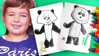 Как рисовать Панду из Маша и Медведь | Урок рисования - Раскраска для детей