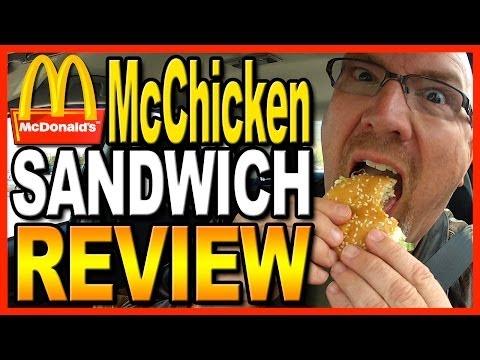 McDonald's McChicken Sandwich Combo Review and Drive Thru Test