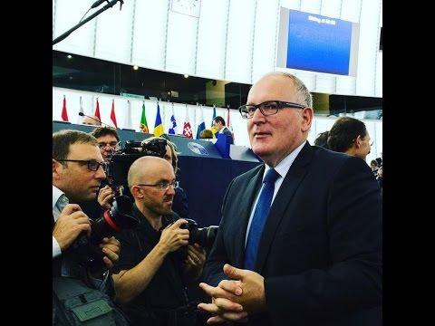 Frans Timmermans' inspirational speech to EU Parliament