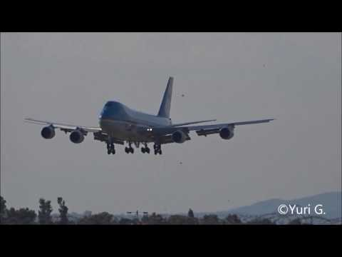 *EXTREME RARE* 23/05/2017 Air Force One landing at Rome Fiumicino Airport