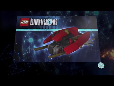 Lego Dimensions Kai vehicle Instructions - Blade Bike, Flying Fire Bike, Blades of Fire