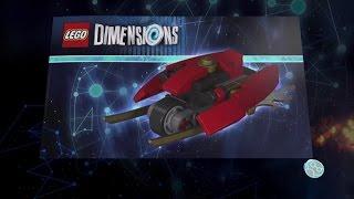 Lego Dimensions Kai vehicle Instructions - Blade Bike, Flying Fire Bike, Blades of Fire