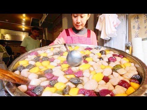 STRANGE Taiwanese Street Food tour! SUPER CHEWY Street Food in Jiufen, Taiwan (九份) + STINKY TOFU