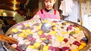 STRANGE Street Food in Jiufen, Taiwan (九份)! SUPER CHEWY Taiwanese Street Food tour + STINKY TOFU