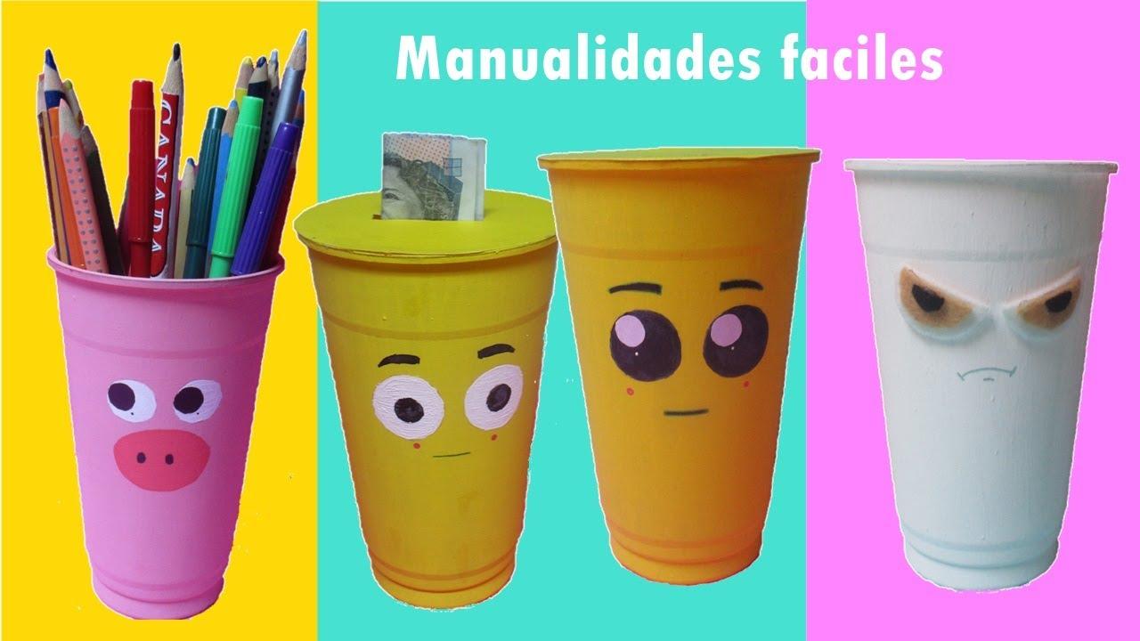 Manualidades f ciles con vasos de pl stico youtube - Manualidades con vasos de plastico ...