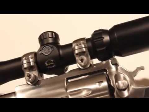BSA 2-7X Edge Pistol Scope On Ruger Super Redhawk