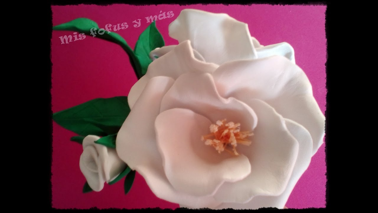 Flores De Goma Eva Rosa Silvestre Youtube