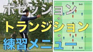 【ポゼッション・トランジション練習】:サッカー練習メニュー作成