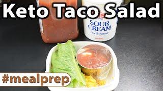 Keto Taco Salad | Weekly Meal Prep | Caveman Keto