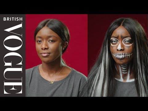 Easy Halloween Make-Up: Gothic Skull | British Vogue
