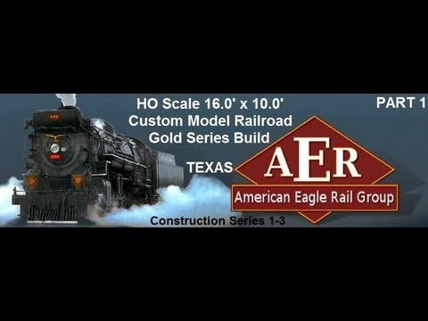 17.0'x10.0′ HO Scale Custom Model Railroad with 2.5 Levels & 2.0% Grade Helix