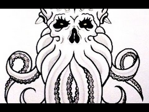 How To Draw CTHULHU - Tattoo Design