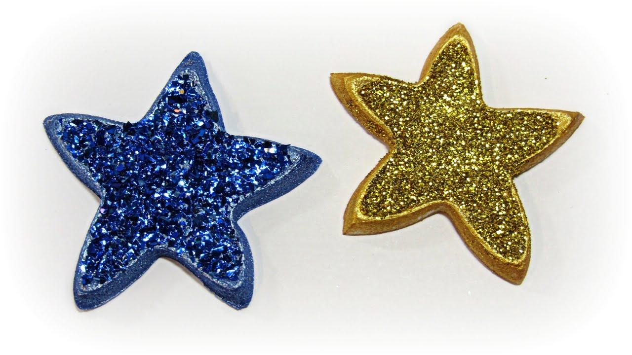 DIY Estrellas de porexpan Styrofoam stars
