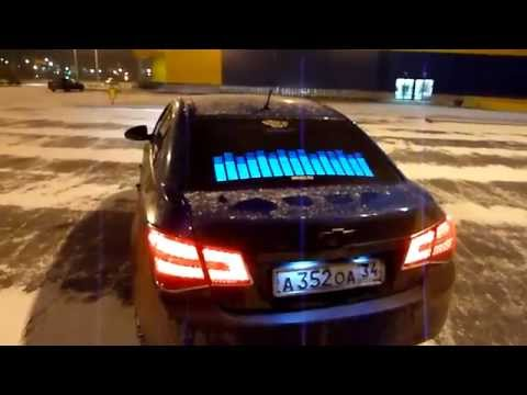 Графический эквалайзер на заднее стекло авто (синий) - YouTube