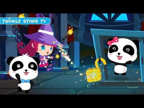 Let's Rescue Baby Panda Kiki & Miumiu with The Magician - Babybus Adventure Games - TwinkleStarsTV