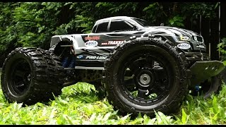 Traxxas E-Maxx Jumps Stunts and Donuts FLM RPM Pro-Line Brushless MIP EMaxx HPI Associated MT