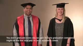 How to wear your academic dress at a Victoria graduation