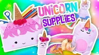 🙌 DIY🌈 UNICORN SCHOOL SUPPLIES🦄 Back to school 2018! - Crafts & Decor
