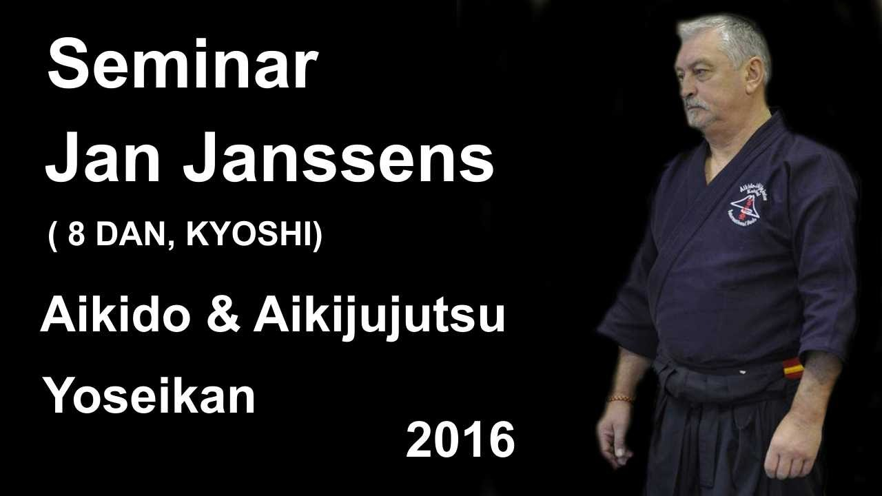 Demonstration 17 sensei Jan Janssens 8 DAN, KYOSHI aikido aikijujutsu yoseikan