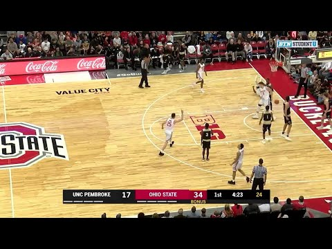 Highlights: UNC-Pembroke at Ohio State | Big Ten Men's Basketball