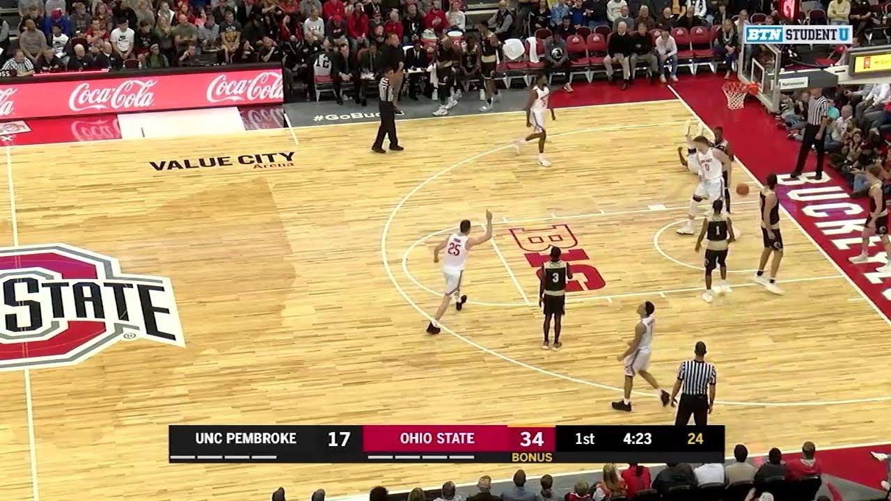 Highlights Unc Pembroke At Ohio State Big Ten Men S Basketball