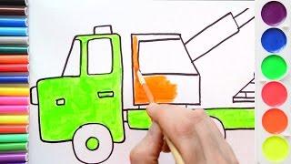 Как нарисовать кран? Рисуем строительную технику. Рисование для мальчиков. Урок рисования
