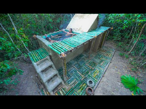 Build The Survival Villa House Bamboo Swimming Pool Underground