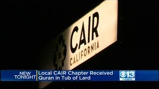 Video: Quran in Tub of Lard Mailed to CAIR-Sacramento