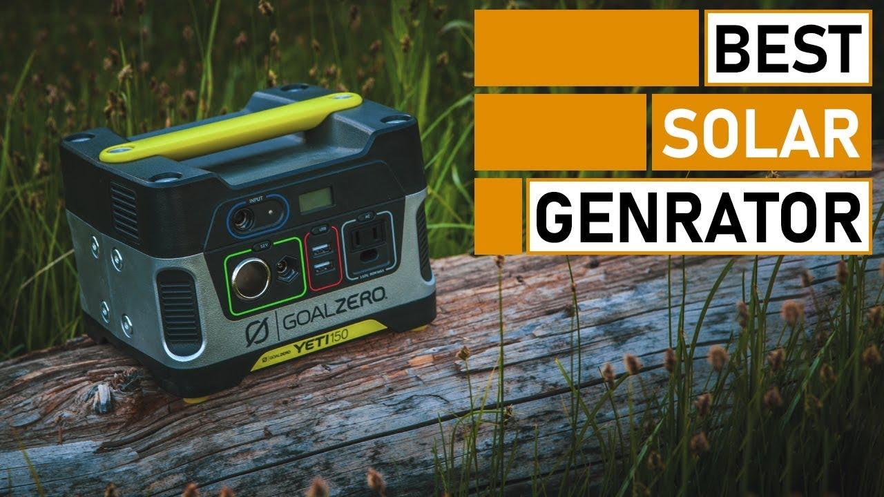 Best Portable Solar Generator & Power House for Camping | Goal Zero Yeti, Bluetti, Renogy Lycan