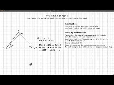 Euclid's Elements Book 1 - Proposition 6