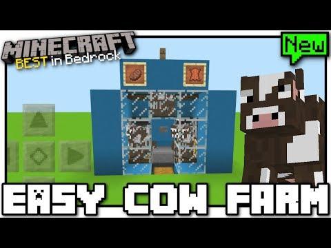 Minecraft - EASY COW FARM [ Redstone Tutorial ] MCPE / Bedrock / Xbox / Switch